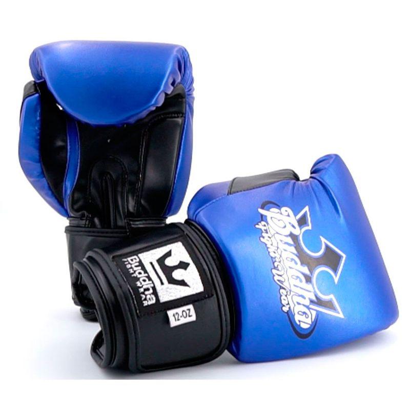 c67c8476b Luvas de boxe Buddha Metallic azul   preto   Frete Gratis