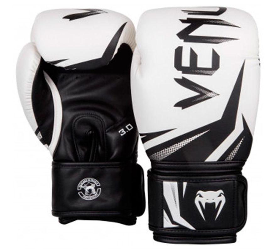 86a055f38 Luvas De Boxe Venum Challenger 3.0 Branco   preto   Frete Gratis