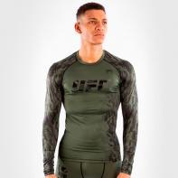 Camisa de compressão de manga comprida caqui Venum UFC Authentic Fight Week