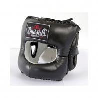 Capacete de boxe Buddha Nariz Fechado de couro preto