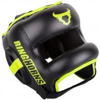 Capacete de boxe  Venum Ringhorns Nitro preto neo yellow By Venum