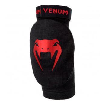Cotoveleiras Venum Kontact preto  vermelho