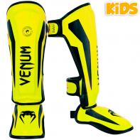 Caneleiras Venum Kids Elite neo yellow