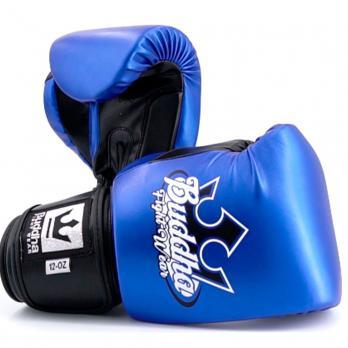 Luvas de boxe Buddha Metallic azul / preto
