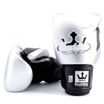 Luvas de boxe Buddha Metallic silver/ preto