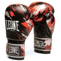 Luvas de boxe Leone Neo Camo vermelho