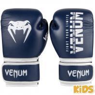 Luvas de boxe criança Venum Signature navy blue