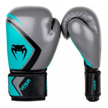 Luvas de boxe Venum Contender 2.0 Grey/Turquoise-Black