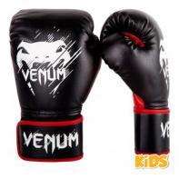 Luvas de boxe criança Venum Contender preto / vermelho