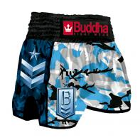 Calções  Muay Thai Buddha  Retro Army Navy Kids