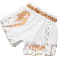 Calções Muay Thai Venum Giant white/gold