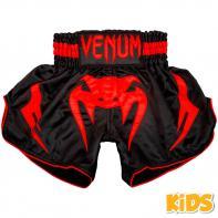 Calções  Muay Thai Venum Inferno Red Devil Kids