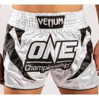Calções Muay Thai Venum X One FC white / black