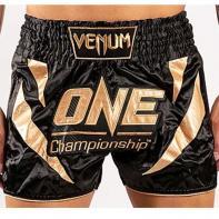 Calções Muay Thai Venum X One FC black / gold