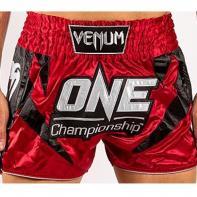 Calções Muay Thai Venum X One FC red