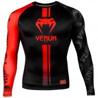 Rashguard Venum Logos l/s preto / vermelho
