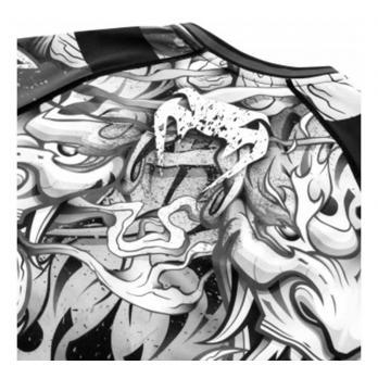 Rashguard  Venum Devil Preto/Branco  l/s
