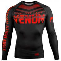 Rashguard Venum Signature l/s Preto / vermelho