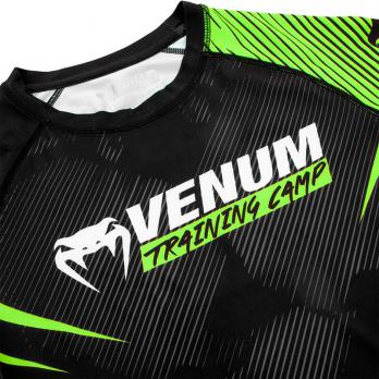 Rashguard Venum Training Camp 2.0 Black/Neo Yellow