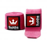 Ligaduras De boxe Buddha 4,5 m  Rosa semi-elástica