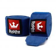LIgaduras de boxe de boxe Azul  semi-elástico Buddha 4,5 m